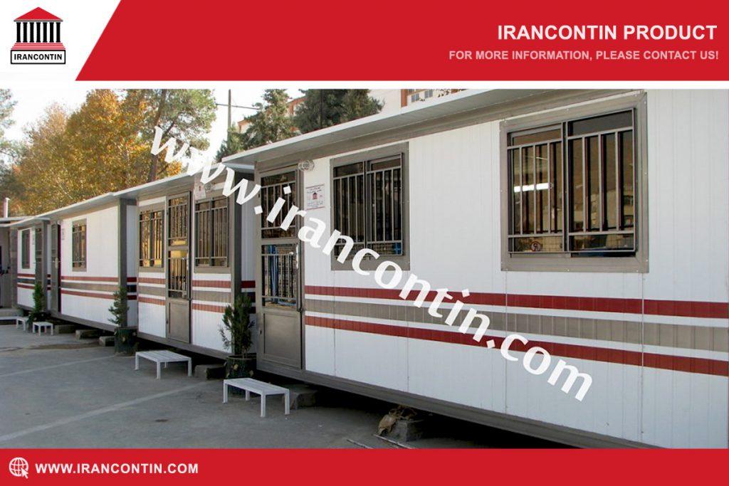 کانکس اداری-کارگاهی ساندویچ پانل با درب و پنجره فلزی