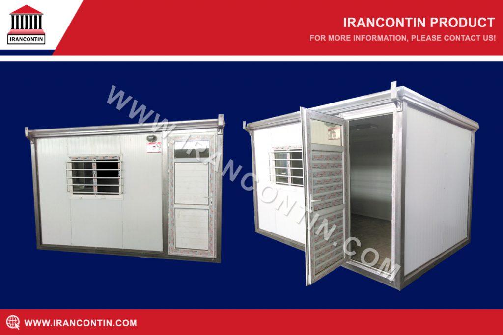 کانکس-اداری-کوچک-و-ساده-با-درب-و-پنجره-یو-پی-وی-سی-و-حفاظ-فلزی